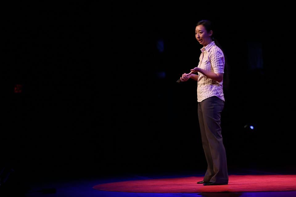 Ikumi speaking at TEDx.