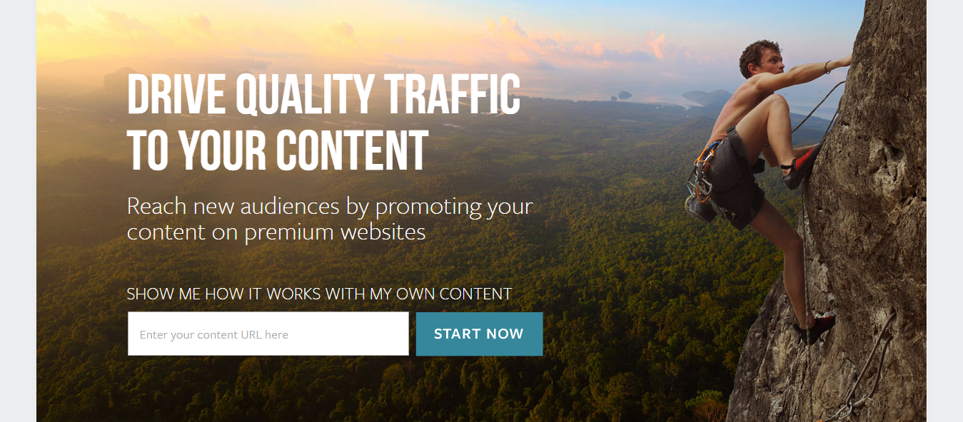 Content Promotion - Outbrain - Landing Page example