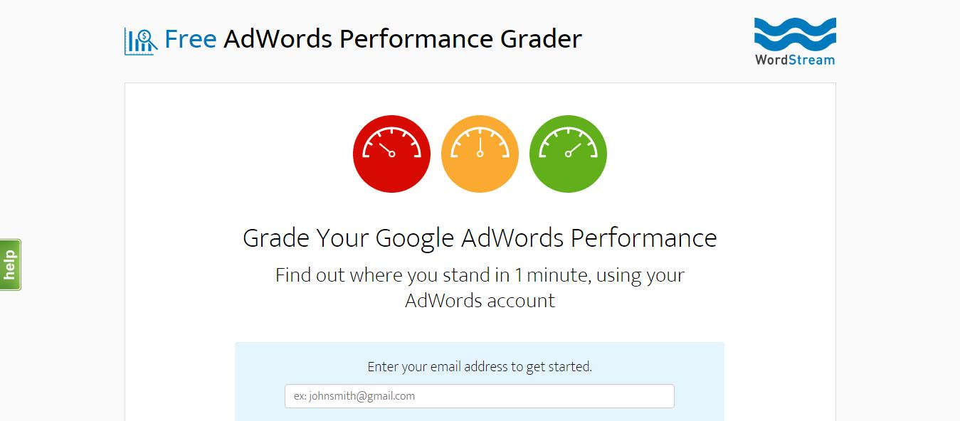 Adwords - WordStream - Landing Page example