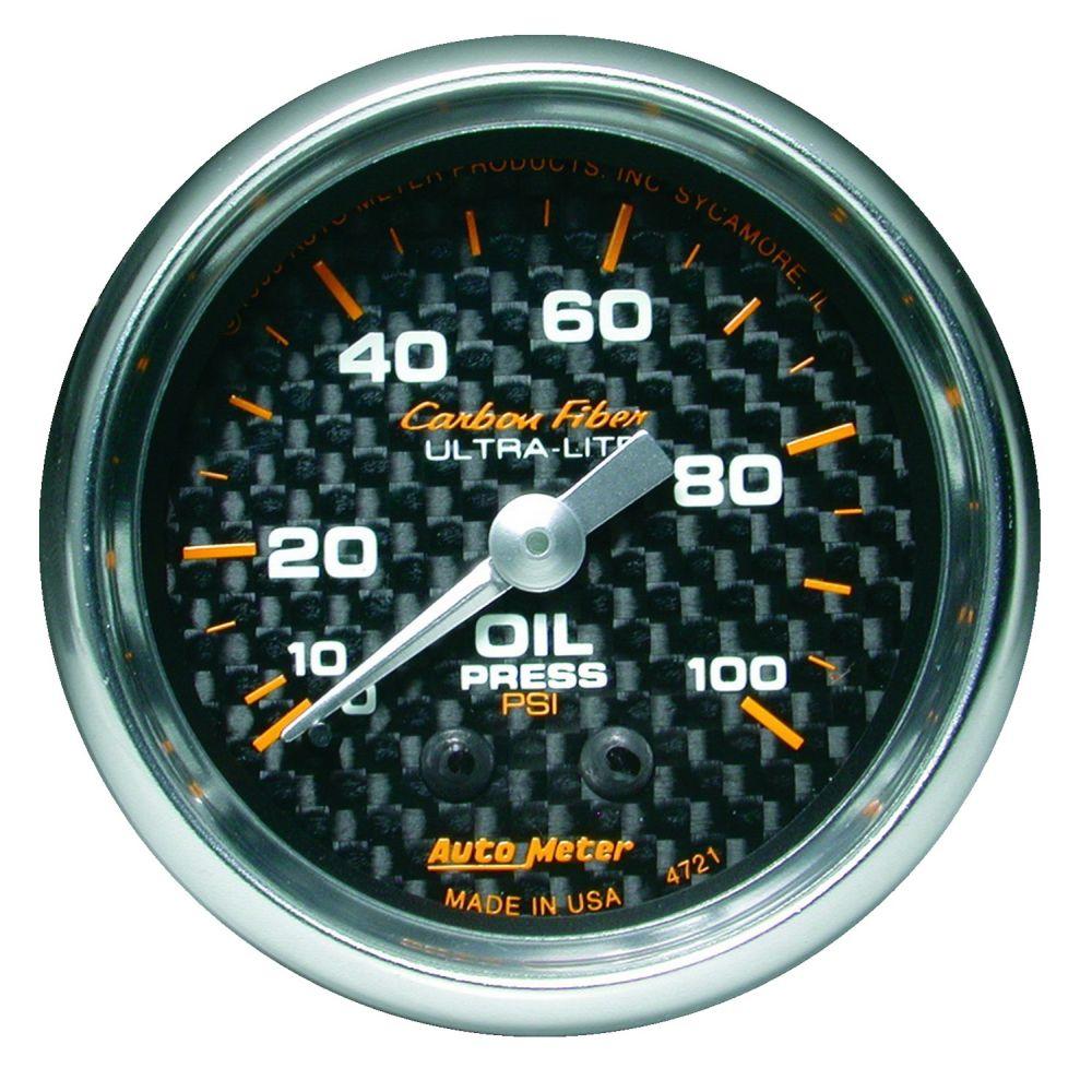 Auto Meter 5723 Phantom Mechanical Oil Pressure Gauge