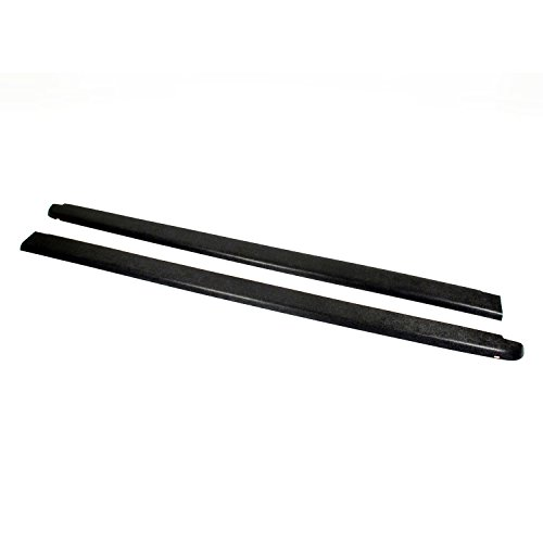 Set of 2 Wade 72-40104 Truck Bed Rail Caps Black Smooth Finish Without Stake Holes for 2007-2014 Chevrolet Silverado 1500 2500 with 6.5ft Bed
