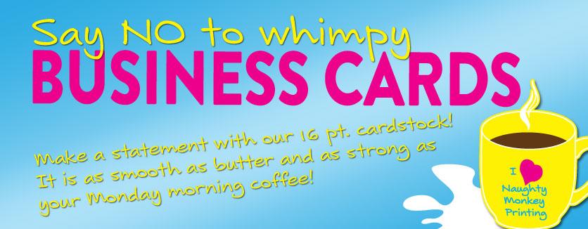 16 pt business cards