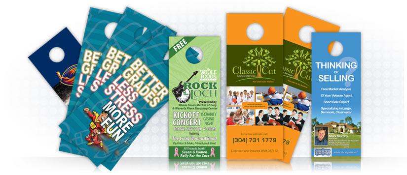 Door Hanger Graphic Design 5 uses for door hangers | tampa printer