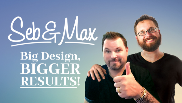 Seb and Max graphic design