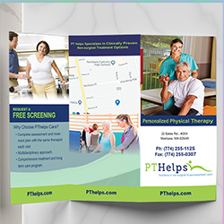 Physical Therapy flyers and brochures - Product Sample Image