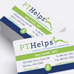 Physical Therapy appointment cards and business cards - Product Sample Image