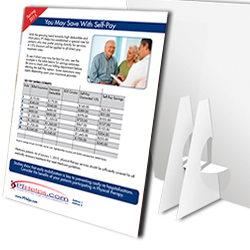 Physical Therapy counter display cards - Product Sample Image