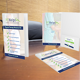 Physical Therapy Presentation Folders - Product Sample Image