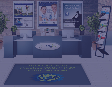 picture of outpatient PT clinic with complete point of reception marketing system