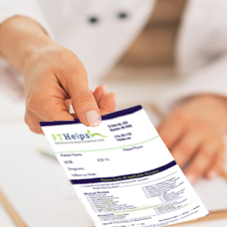 Physical Therapy Referral Pads - Product Sample Image