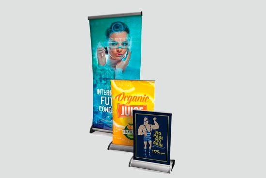 Table top and floor displays