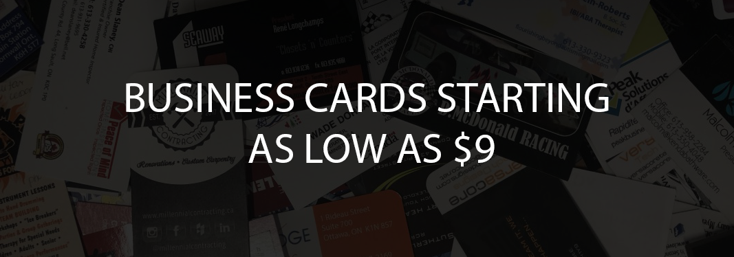 Business Cards Starting as low as $9