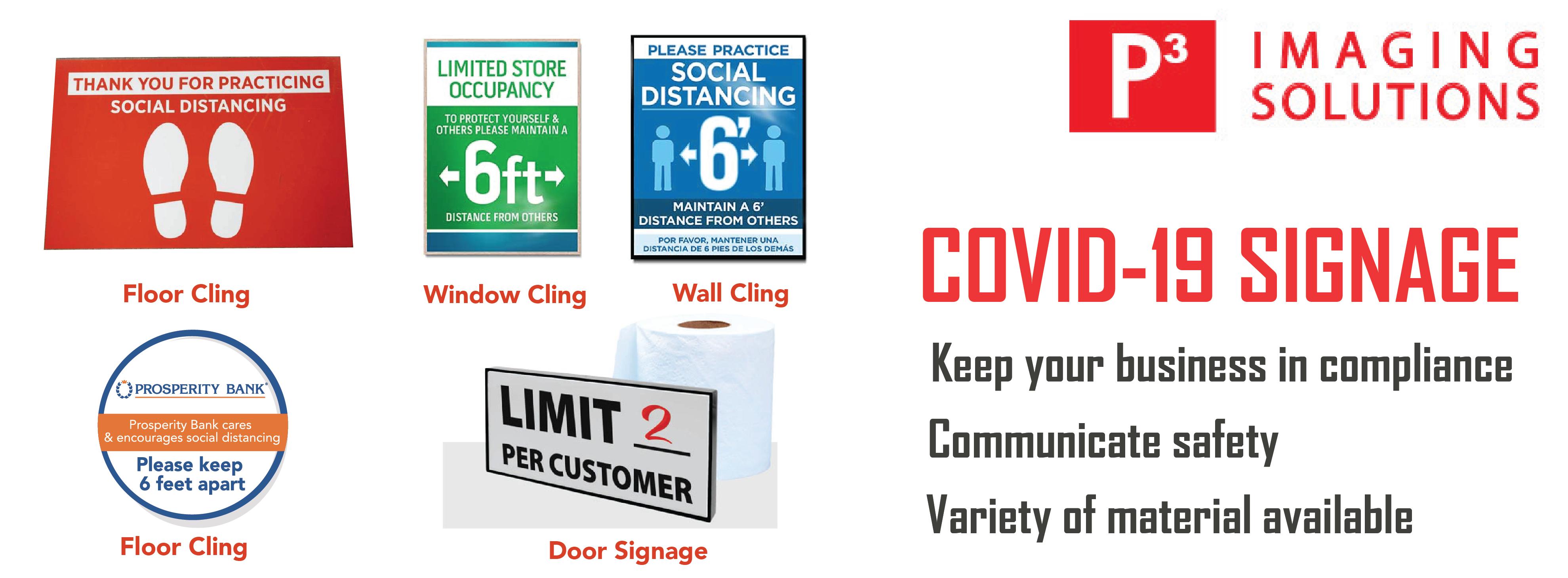 Covid-19 Safety Signage