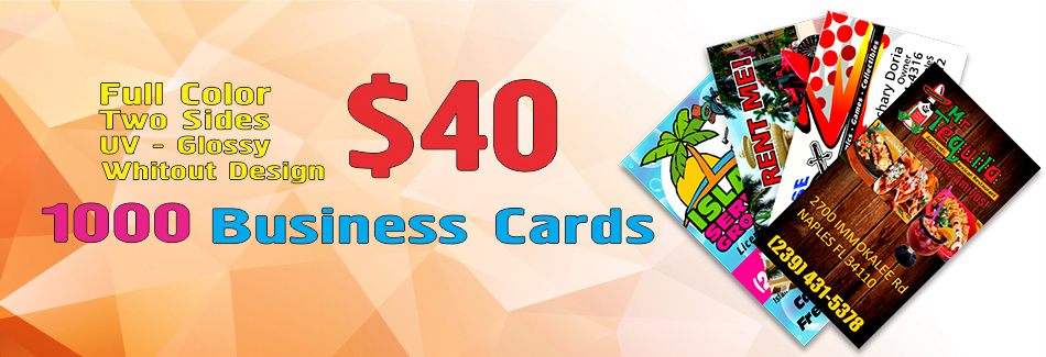 1000 business cards full color