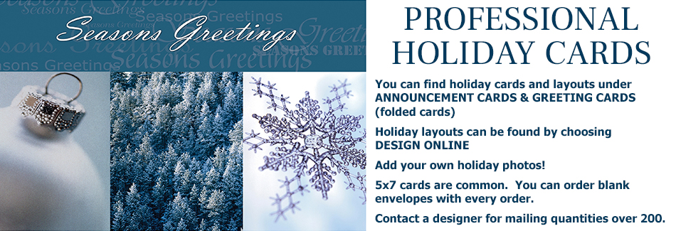 Professional Holiday Cards