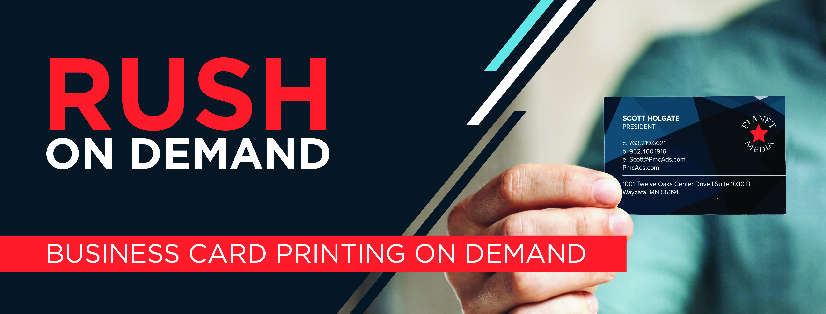 Planet Media Business Card Printing on Demand!