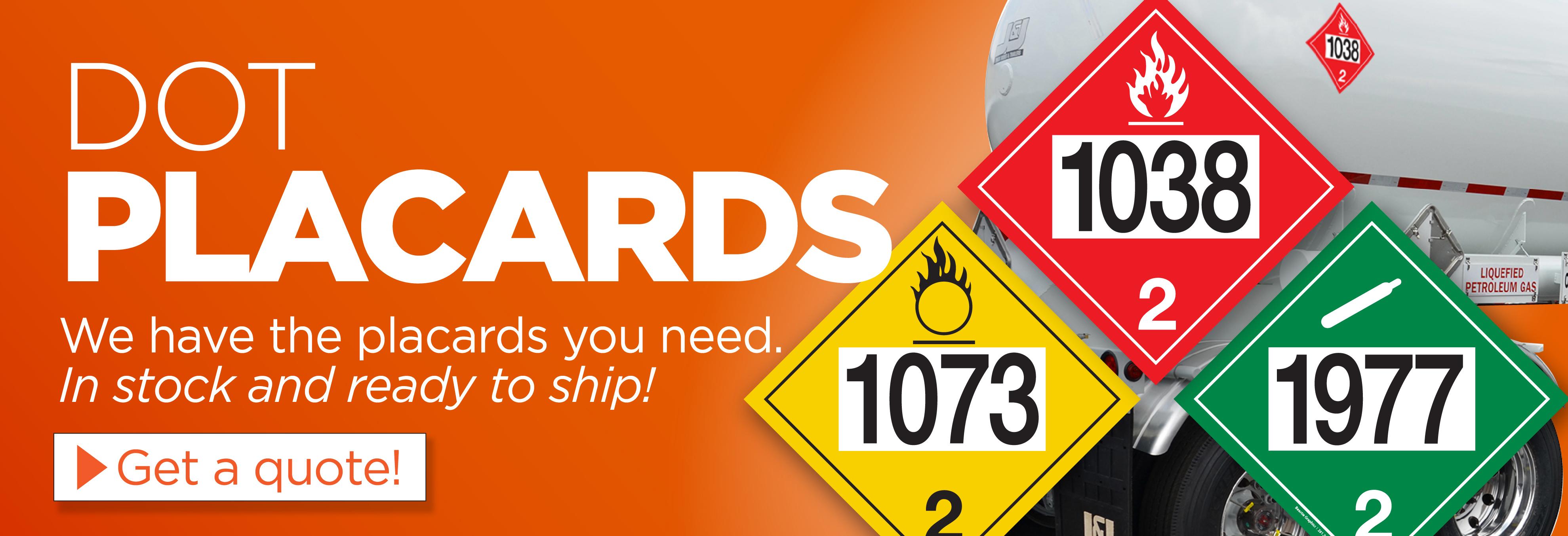 DOT Placards