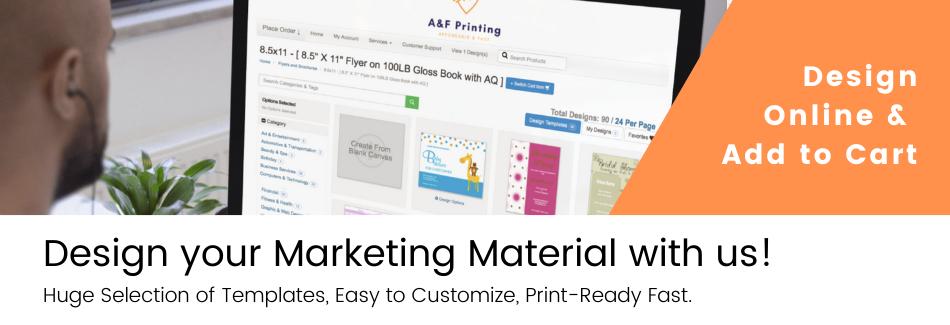 A&F Printing Online Design Platform