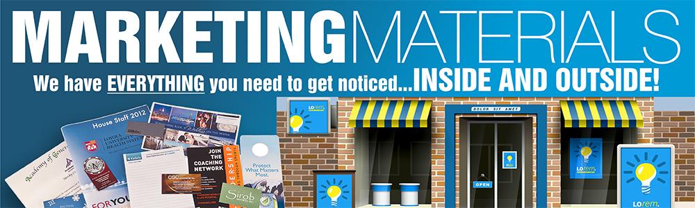 All marketing materials