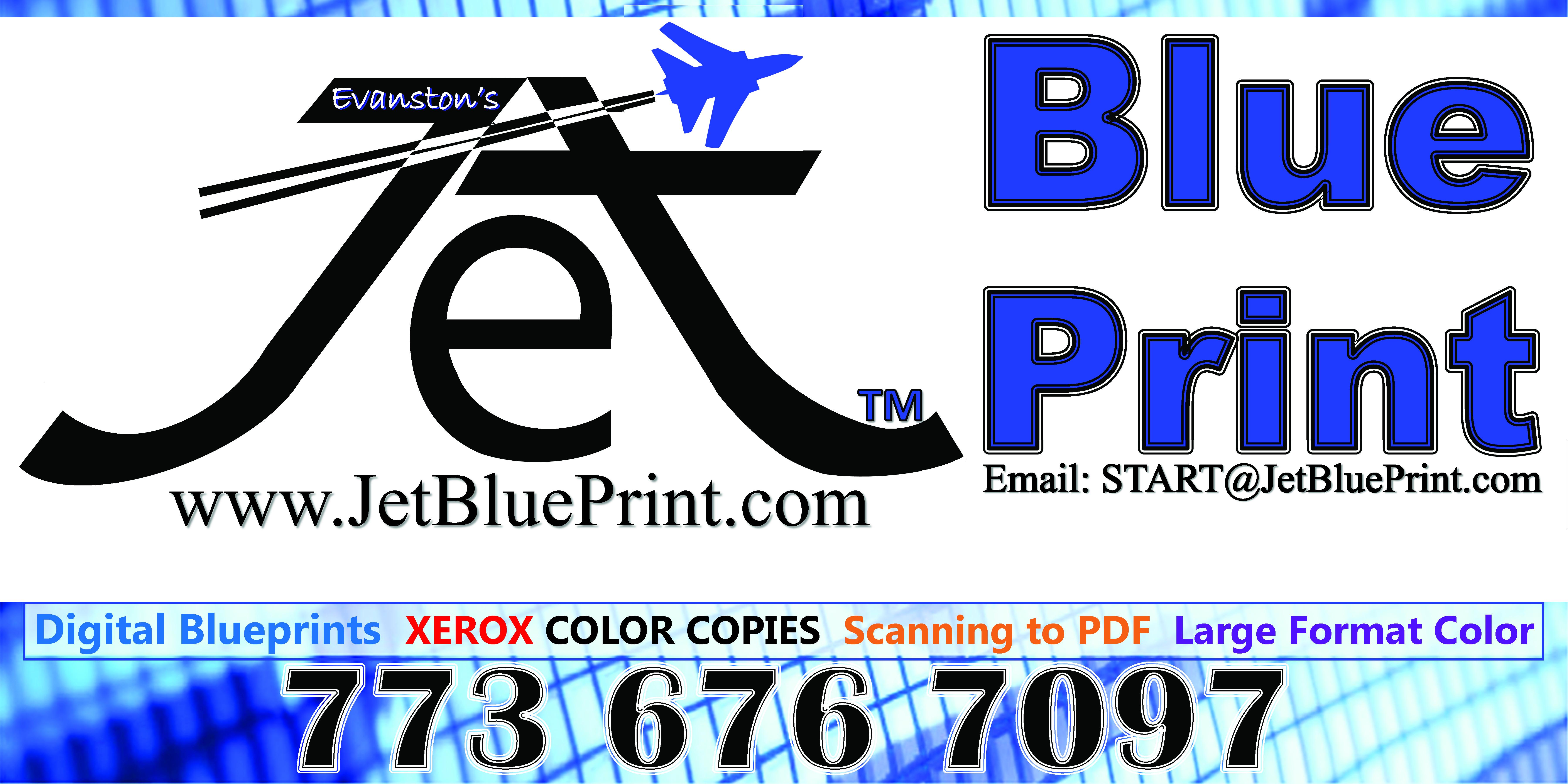 Jet Blue Print Home