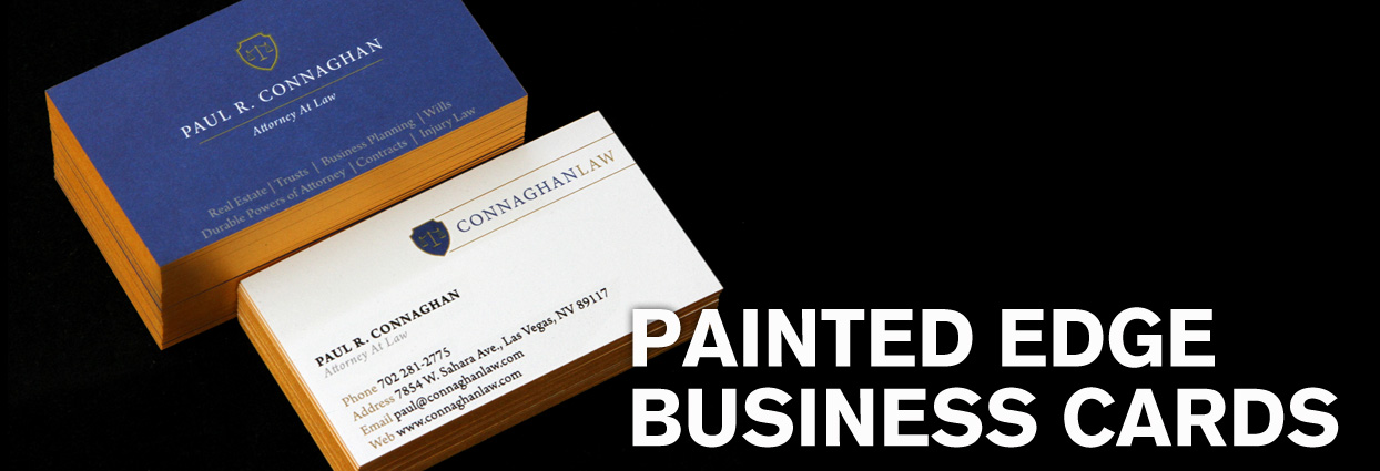 Painted Edge business cards in Las Vegas