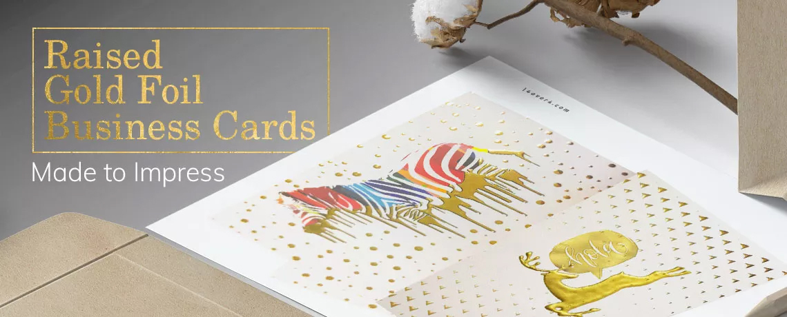 Raised Gold Foil Business Cards
