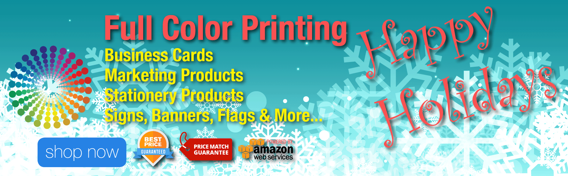 Full Color Printing - Happy Holidays