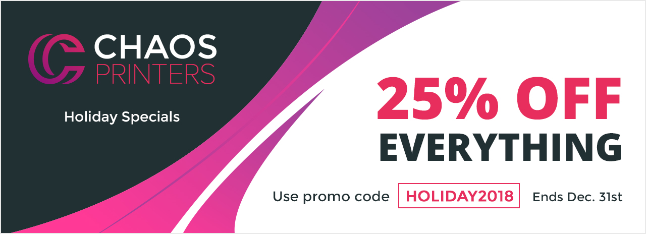 25% Off Holiday Special 2018