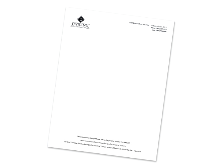 Letterhead, 1 and 2 color