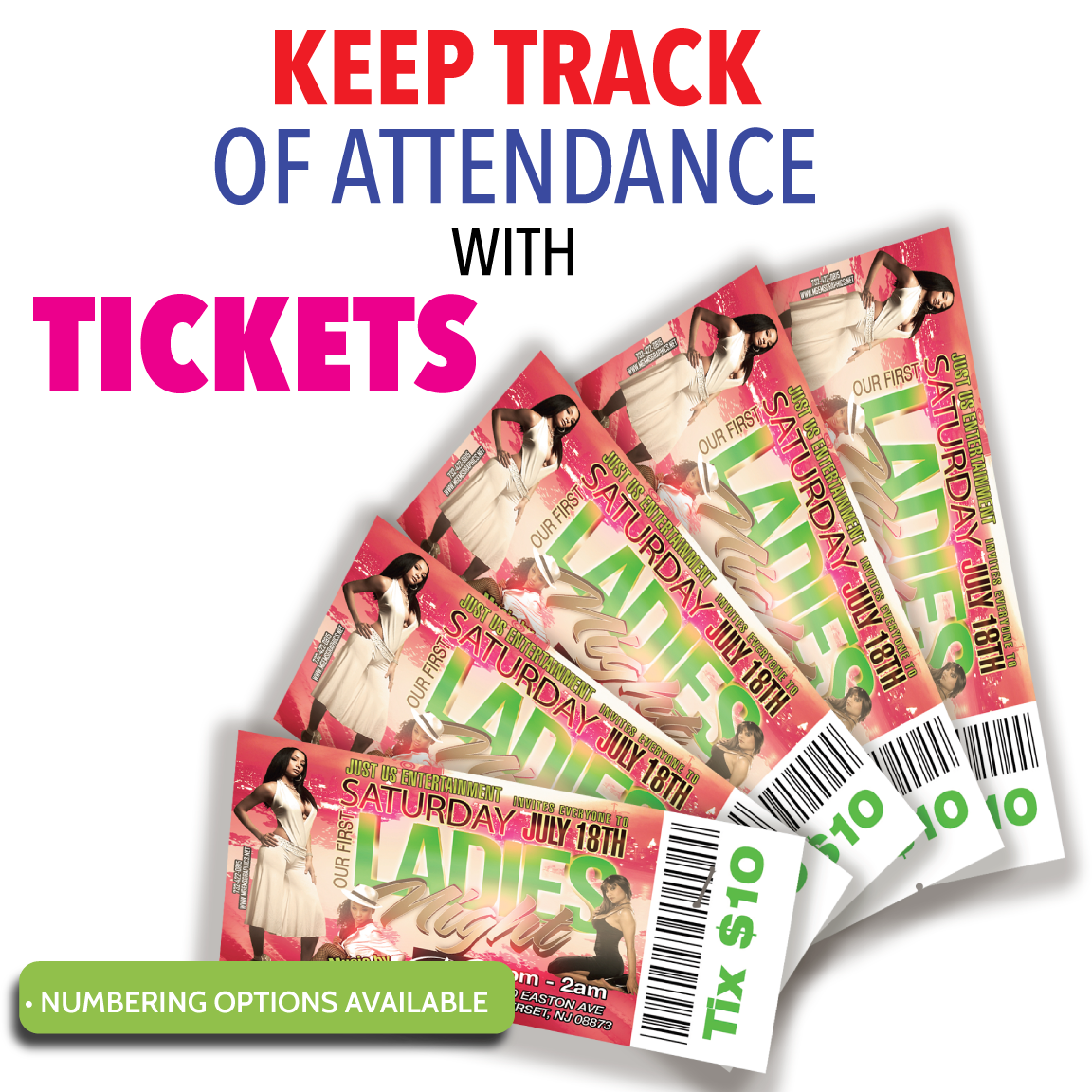 Digital Print Tickets