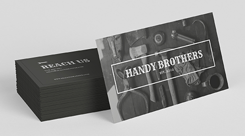 Example Business Cards for Handy Brothers