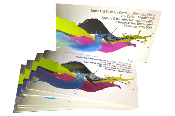 Tampa printer liquid foil business cards reheart Gallery