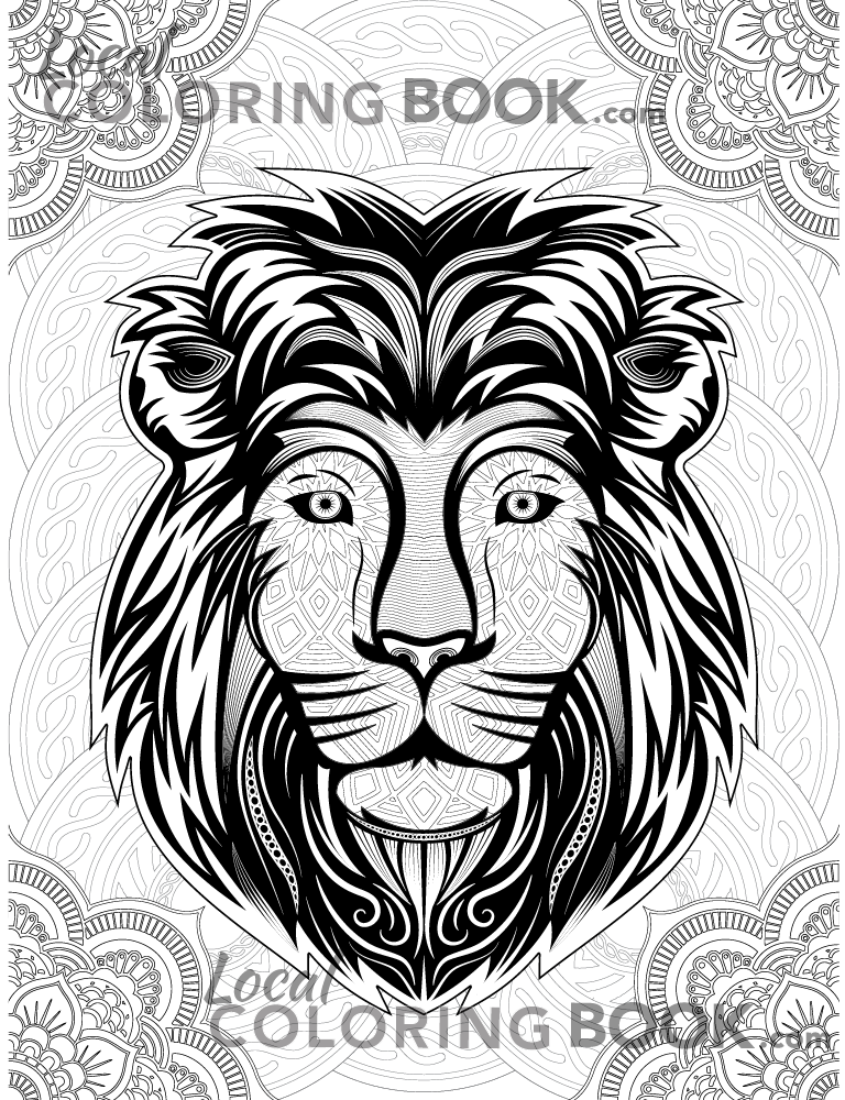 Lion Coloring Poster