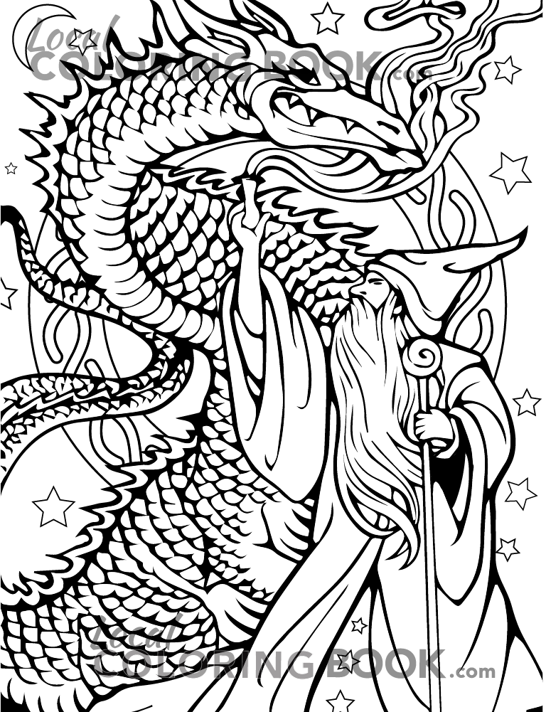 Dragon Coloring Poster
