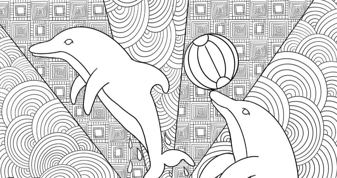Dolphin Coloring Poster