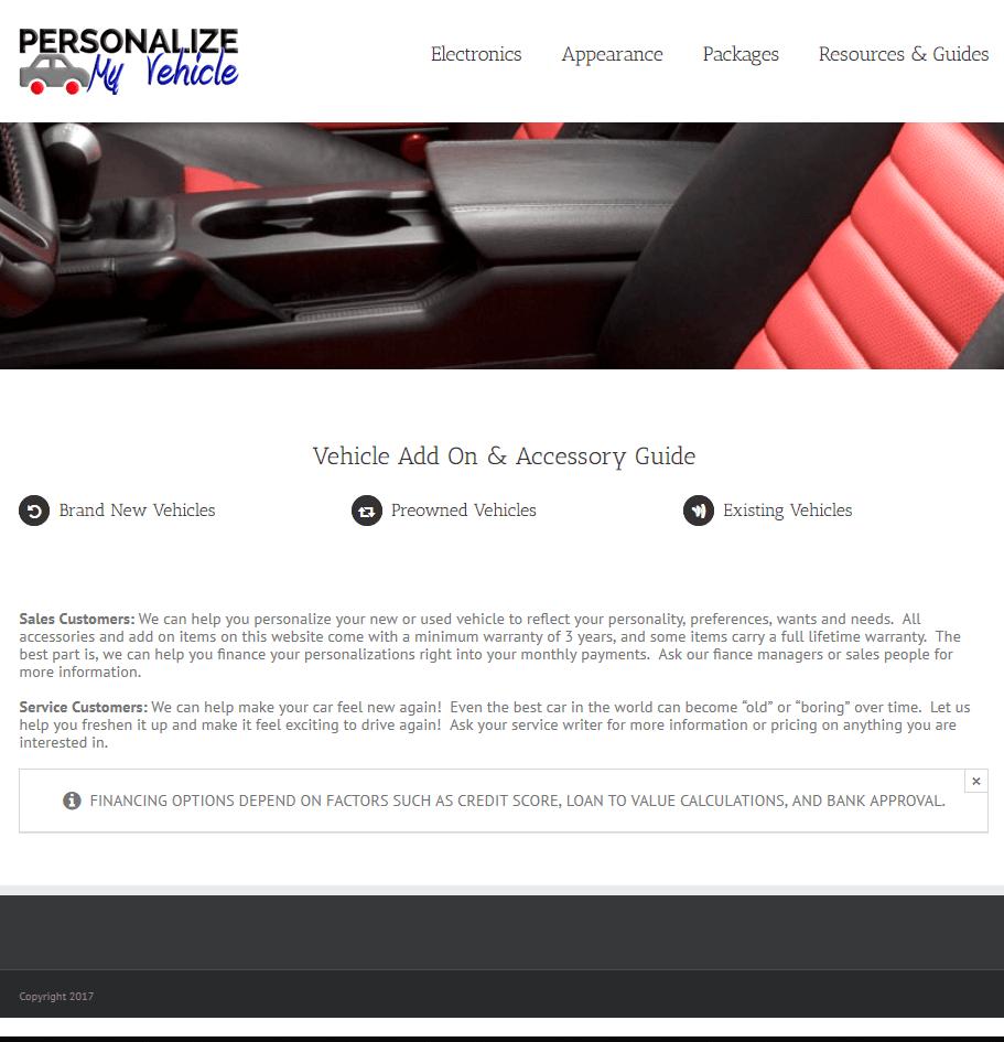 Wholesale Aftermarket Vehicle Accessories, Service