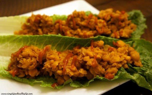 Asian Chickpea Lettuce Wraps
