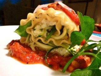 Veggie Lasagna Rolls W/ Peppery Pecorino Marinara