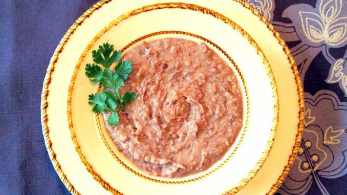 """Crockpot """"Refried"""" Beans"""