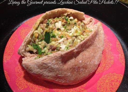 Zucchini Salad Pita Pockets