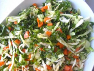 Delightful Kale and Cabbage Slaw