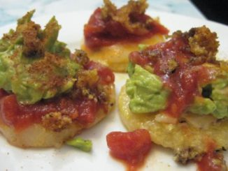 Tex-Mex Polenta Rounds with Chunky Guacamole