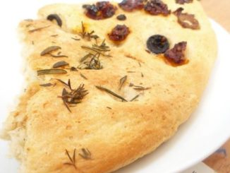 Sundried Tomato,Olive,Rosemary and Thyme Foccacia Bread