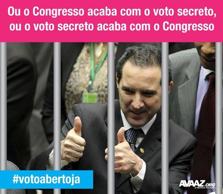 Chegou a hora de acabarmos com o voto secreto!