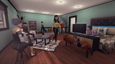 avakin life group friends bedroom