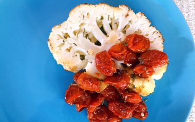 Roasted Cauliflower with Tomatoes and Garlic