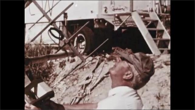 1960s: NASA conducts rocket experiments from Navy ship.