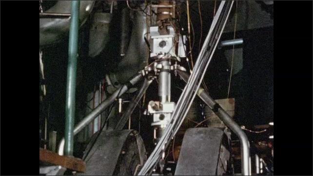 1950s: EUROPE: atom smashing machine. Target area on world's most powerful Van Der Graaf.