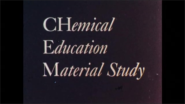 1960s: Title screen for chemical education material study. Animation of molecule transforms into logo.