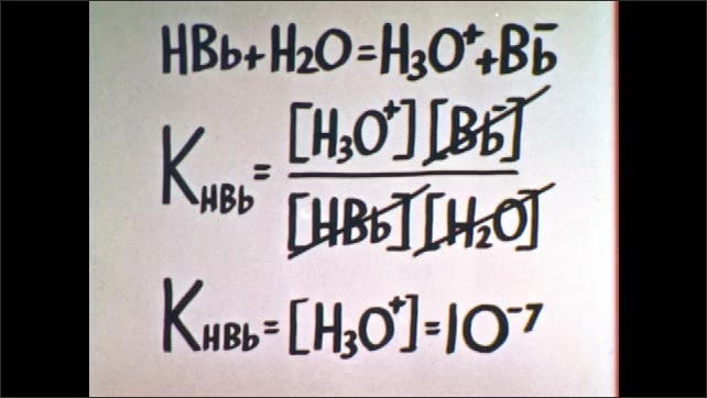 1960s: Chemical equations.